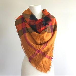 Burberry mega plaid nova check square scarf